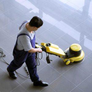 Floor buffering (photo)